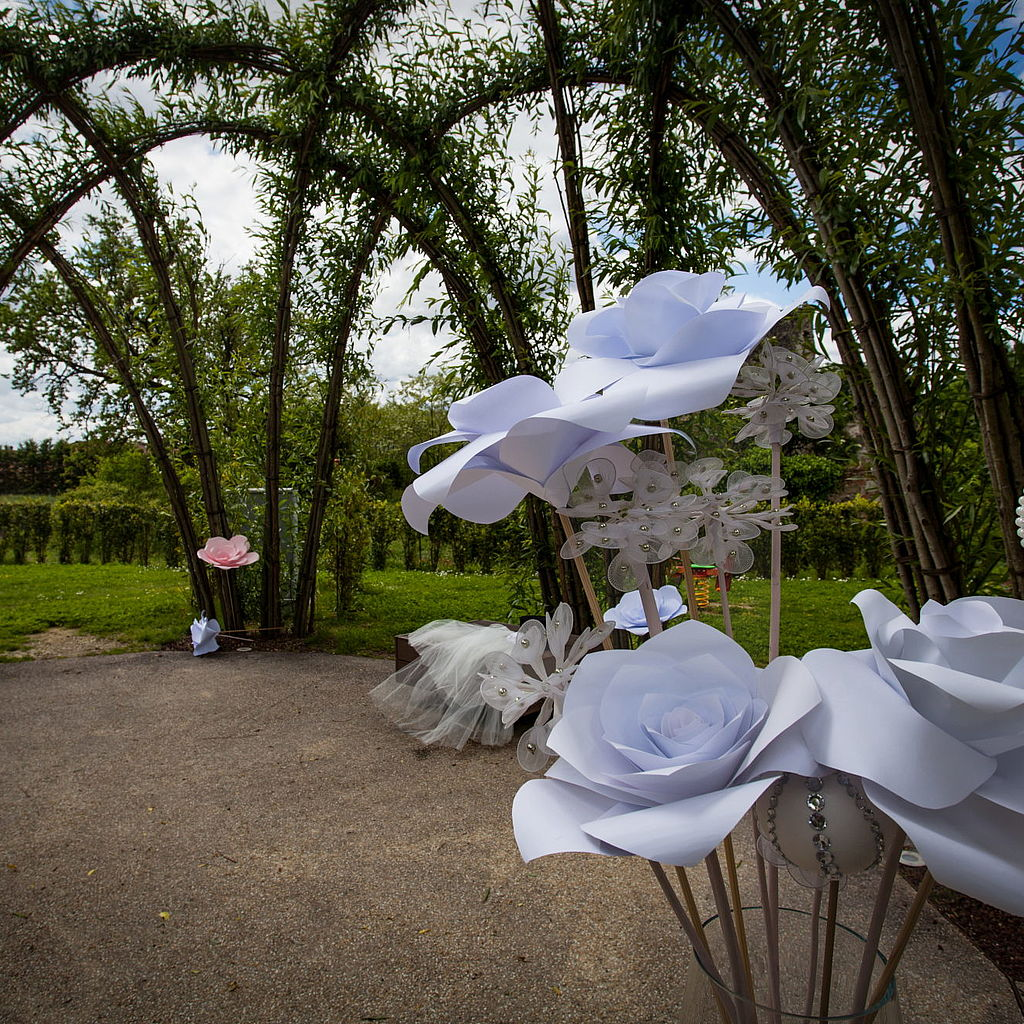 Addobbi da matrimonio all'interno del parco Pandora