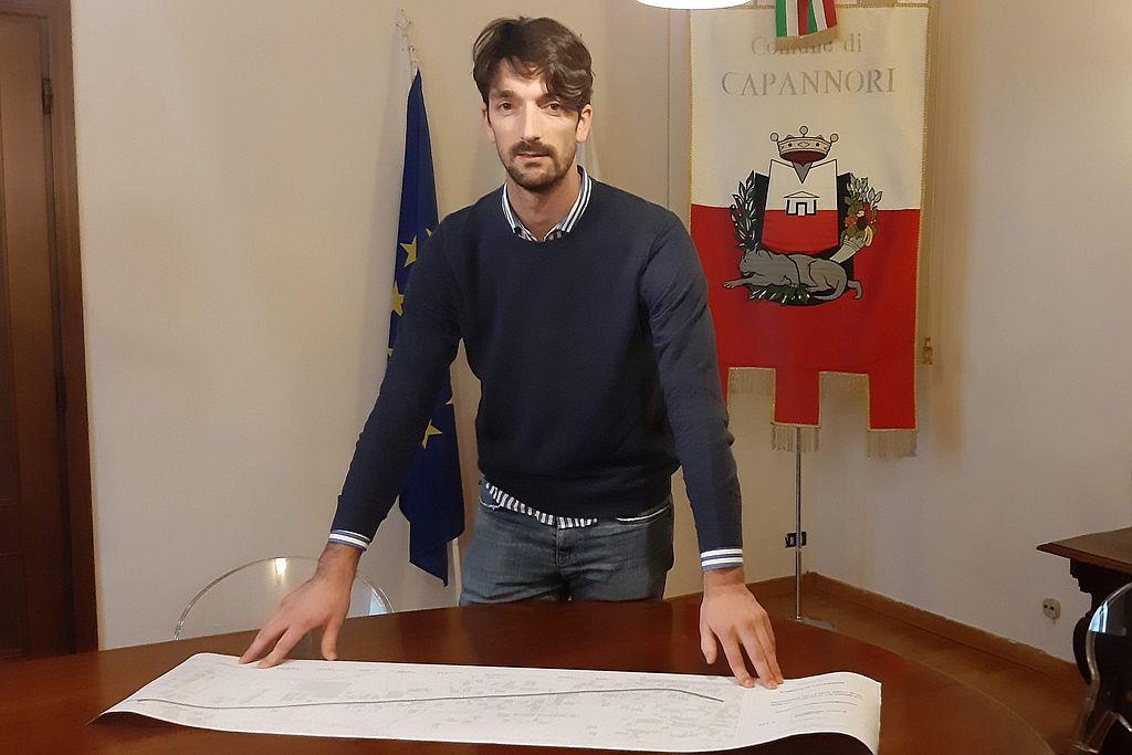 L'assessore Davide Del Carlo illustra il progetto