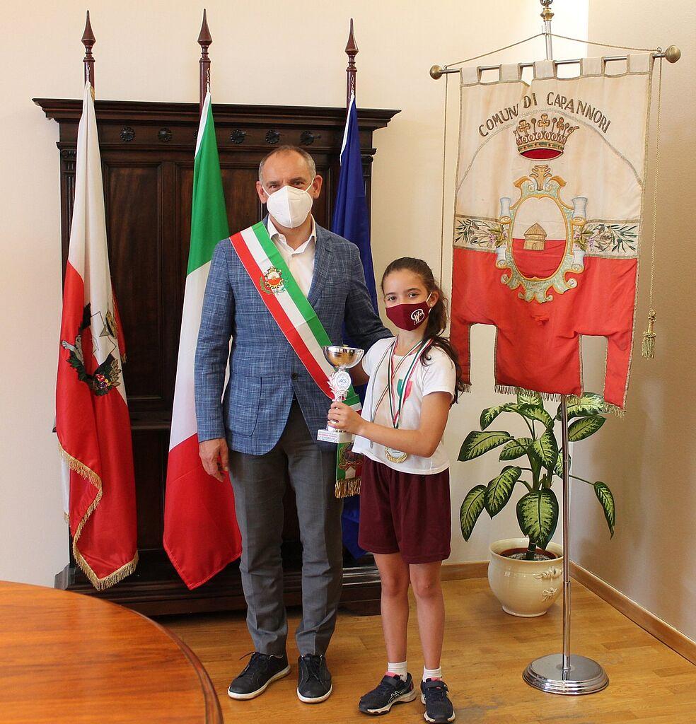 Il sindaco Luca Menesini Con Maia Papeschi