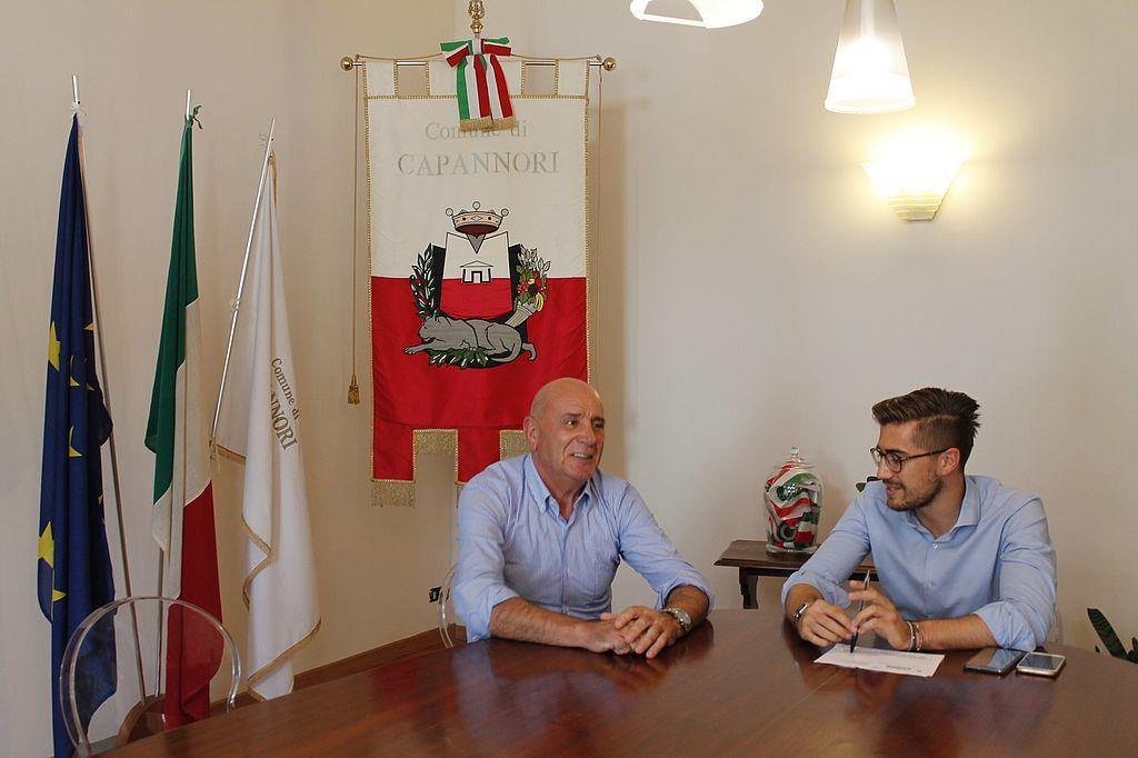 Il vicesindaco Matteo Francesconi e Francesco Franceschini