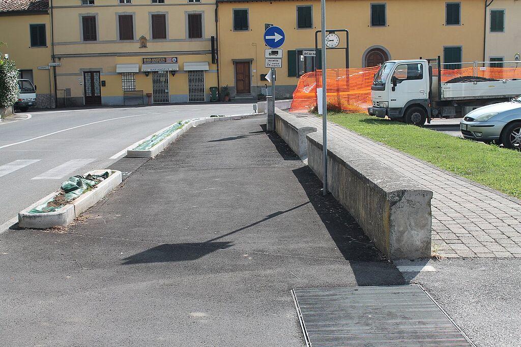 Un tratto della nuova pista ciclabile Lammari-Lunata