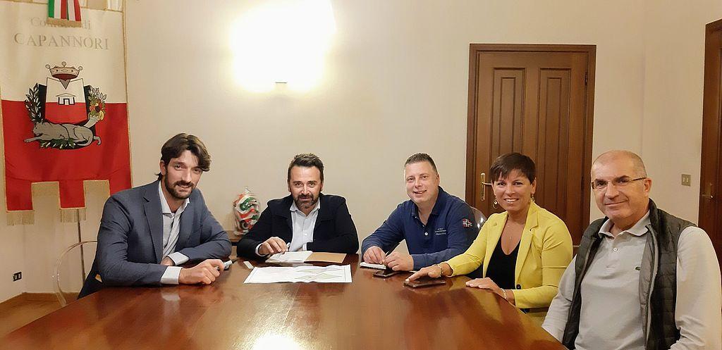 L'incontro con la dirigenza della Pallavolo Nottolini Capannori