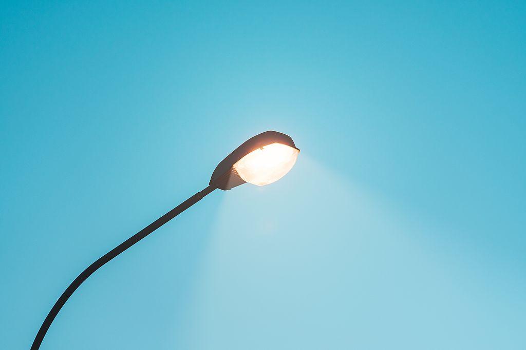 Un punto luce acceso