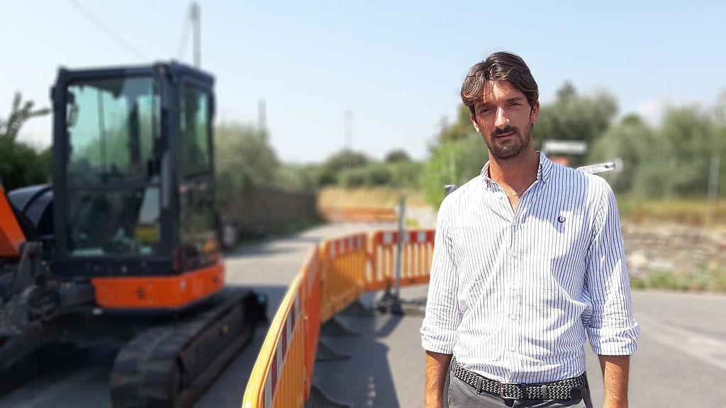 L'assessore ai lavori pubblici Davide Del Carlo