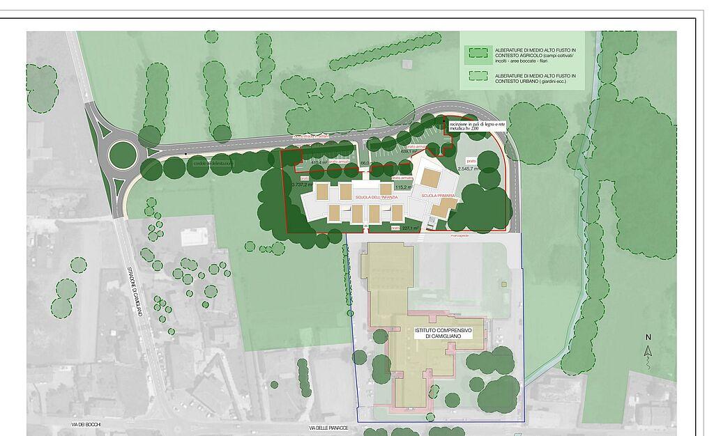 Planimetria nuovo polo scolastico Camigliano