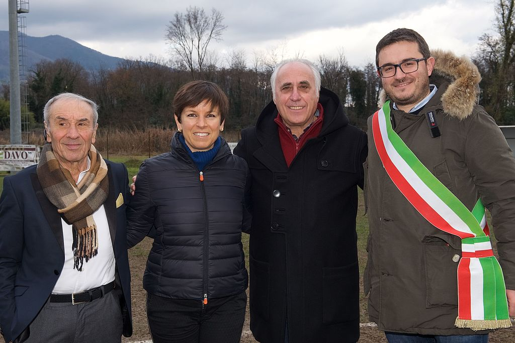gli assessori Francesco Cecchetti e Lucia Micheli assieme agli ospiti speciali Claudio Desolati e Giovanni Toschi