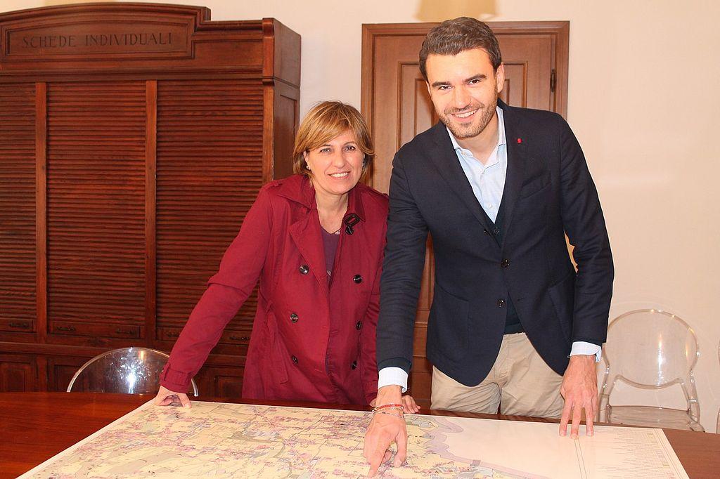 L'assessore all'urbanistica Giordano Del Chiario e la presidente della commissione urbanistica Silvia Amadei
